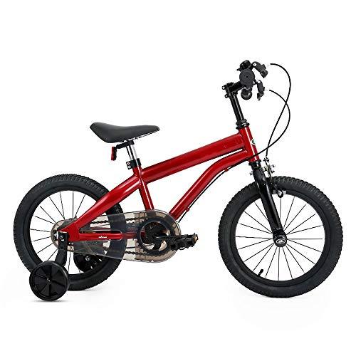 DAWWFV Kinder Fahrrad, Doppelhandbremse, Schwamm Kissen, Geeignet for Männer und Frauen 3-9 Jahre alt (Color : A)