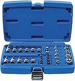 BGS 5021 | Jeu d'embouts et de clés à douille | 10 mm (3/8') | profil E / profil T (pour Torx) | 34 pièces