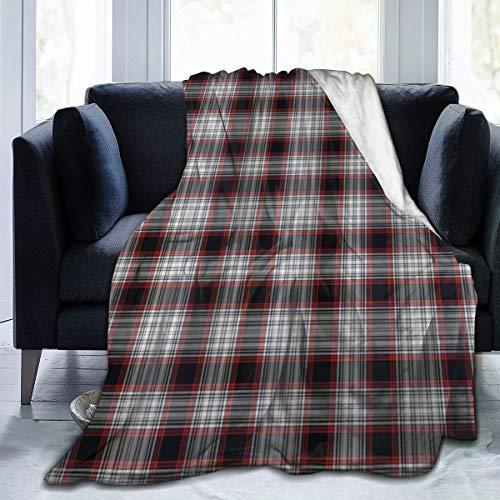 GugeABC Manta de Microfibra Ultra Suave,Patrón a Cuadros inglés Antiguo a Cuadros con Elementos de diseño Abstracto Moderno,Decoración para el hogar,cálida Manta para sofá Cama,60'X50'