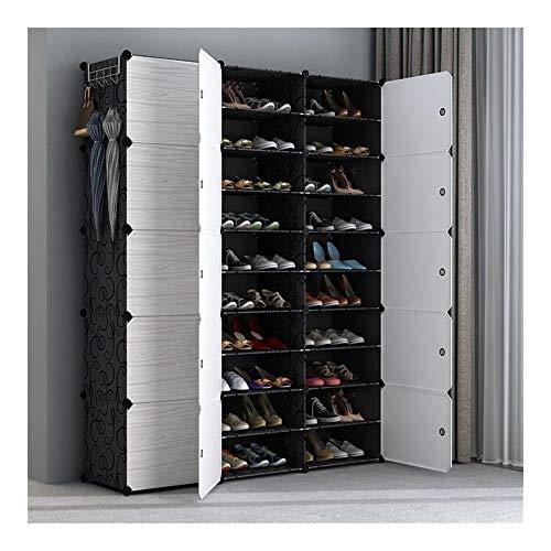 LWZZDZ - Caja de almacenamiento para el hogar, armario de dormitorio, zapatero de plástico en la puerta (color: negro 2 7)