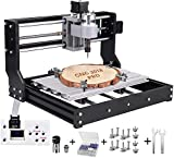Upgrade Version CNC 3018 Pro Engraver Machine, GRBL Control DIY Mini 3 Axis PCB Milling Machine, Wood Router Engraver with with ER11 and 5mm Extension Rod+ Offline Controller …