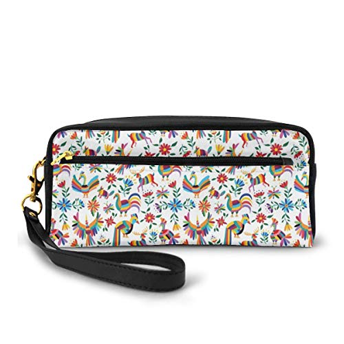 Pencil Case Pen Bag Pouch Stationary,Traditional Latin Ameri