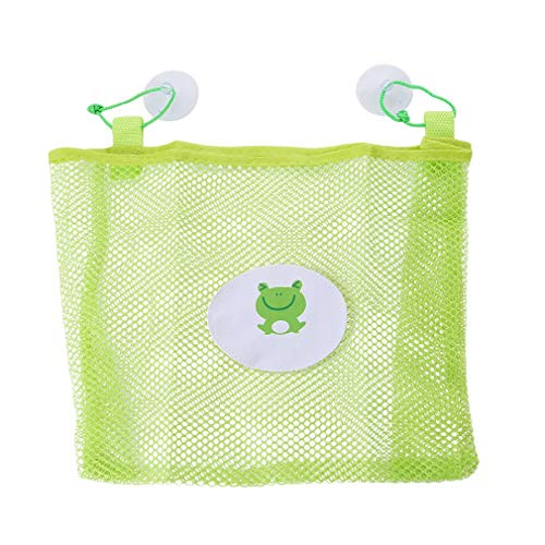 Fliyeong Premium Baby Bad Zeit Spielzeug Lagerung Mesh Taschen Bad Organizer Hängende Saugbeutel Grün
