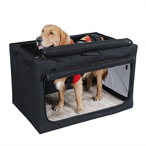 Petsfit Portable Soft Large Dog Crate Travle Dog...
