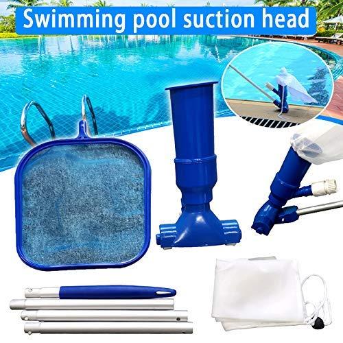 Deluxe Pool Maintenance Kit-Pool-Reinigungs-Werkzeug Zubehör Vakuum Saug-, Manuell Fischnetz-Werkzeug-Set zcaqtajro (Color : Eu Interface)