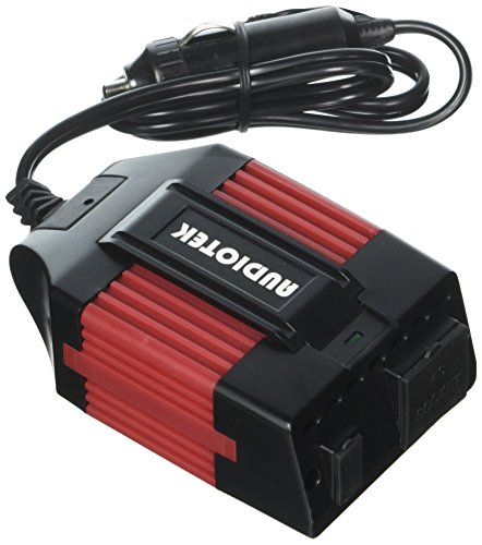 AUDIOTEK Pi250 DC to AC Portable Heavy Duty Power Inverters - AC/USB Output with 2Ft Extended Cable