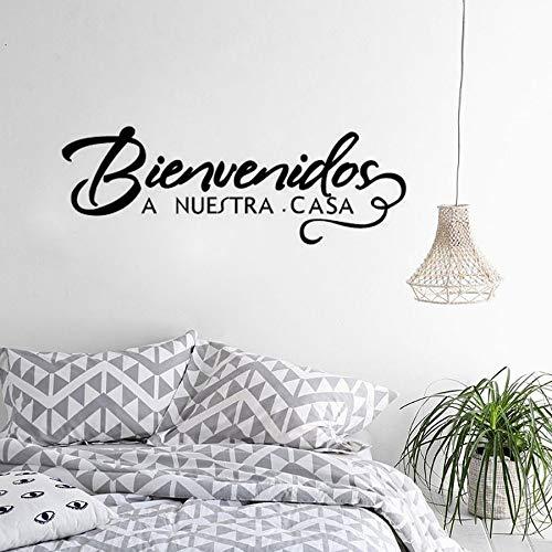Geiqianjiumai Willkommen auf unserer spanischen Homepage Wandaufkleber 68.4 cm x 24 cm