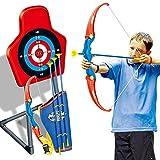 12che Juego de arco y flecha, juego de arco, con flecha de succión suave para niños