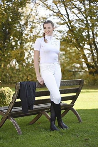 Covalliero Basic Plus Pantalon d'équitation Unisexe pour Enfant 9-10 Ans Blanc.