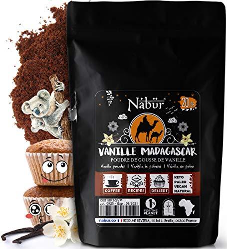 Nabür - Vaniglia in Polvere Madagascar 20g ⭐ Vaniglia Macinato Bourbon | Gourmet ⭐ 0% Zucchero Aggiunto/Additivi