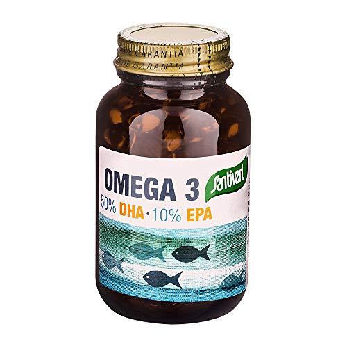Bote de perlas Omega 3 + EPA de Santiveri (79 gr): complemento alimenticio a base de aceite de pescado y vitamina E