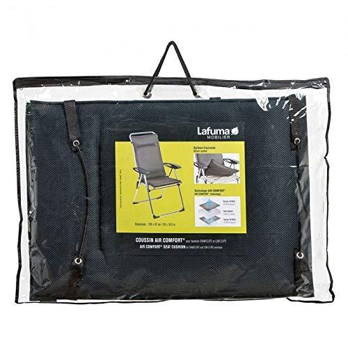 Lafuma gepolsterte Air Comfort Auflage für Hochlehner, acier (schwarz)