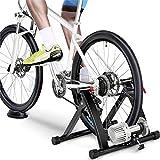 Yaheetech Rullo Trainer Allenamento Bici a Liquido Olio Silenzioso Pieghevole in Acciaio per...