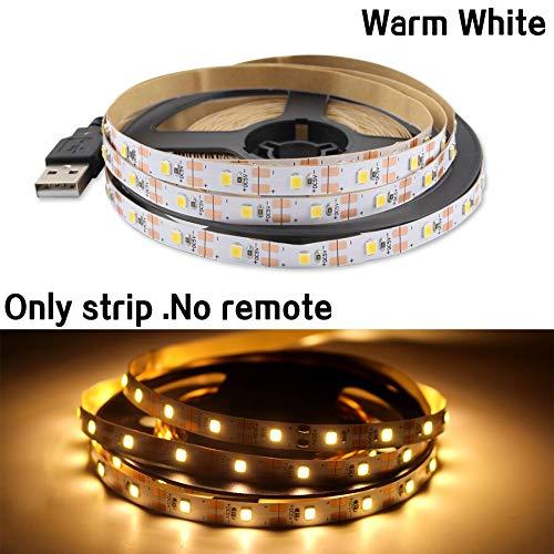 KIODS LED Strip Light 5V USB licht met licht 2835 5M warm wit niet waterdicht TV via kabel achtergrondverlichting decoratie Kerstmis USB-licht RGB met diode