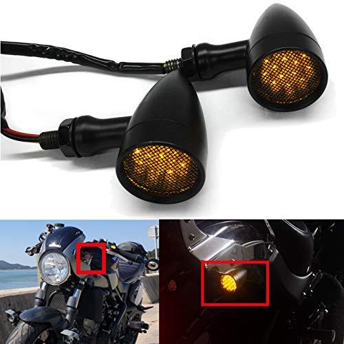2PCS 15 LEDs motorrad blinker Bullet-förmige led blinker motorrad Blinkerleuchten Universal für Motorrad-Roller Quad Off Road