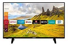 Telefunken XU58J521 146 cm / 58 calowy telewizor (Smart TV z prime video / Netflix / YouTube, 4K UHD z Dolby Vision HDR / HDR 10 + HLG, współpracuje z Alexa, Triple Tuner) [Rok modelowy 2020]