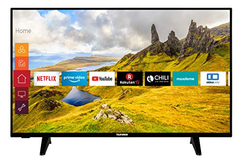 Telefunken XU55J521 139 cm / 55 Zoll Fernseher (Smart TV inkl. Prime Video / Netflix / YouTube, 4K UHD mit Dolby Vision HDR / HDR 10 + HLG, Works with Alexa, Triple-Tuner) [Modelljahr 2020]