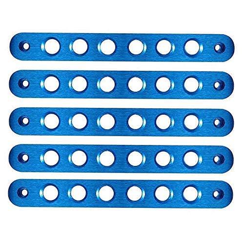 Maniglia esterna della porta in alluminio maniglia maniglia afferrare Bar Trim copertura adatta per Jeep Wrangler JK Accessori Maniglia Decorazione Trim (5 pezzi blu)