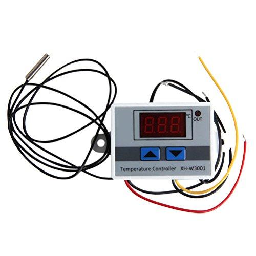 UKCOCO Controles digitales del termóstato de la temperatura 220V 120W que calientan y que refrescan para el aire acondicionado central Fan Coil Units120W (blanco)