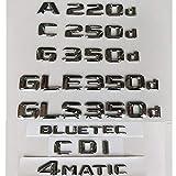ベンツGLA220d GLC220d GLC250d GLE350d GLE250d GLS350d 4MATIC CDI CGI HYBRID BLUETEC、クロム文字エンブレム用