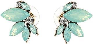 Art Deco Antique Vintage Style Mint Sea Foam Green Tiffan Opal Aqua Blue Marquis Rhinestone Bridal Bridesmaid Wedding Prom...