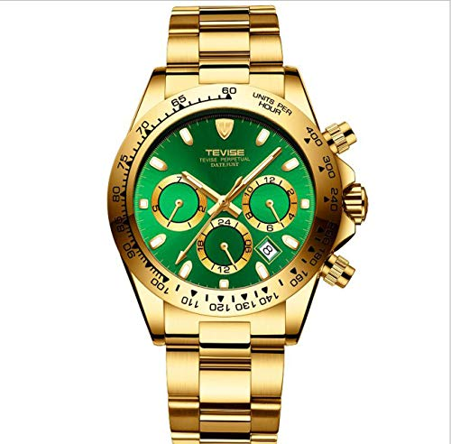 TEVISE Watch Men 6-Pointer Reloj automático de Dial Mecánico Imperme
