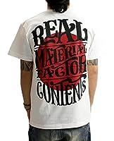 (リアルコンテンツ)REAL CONTENTS tシャツ メンズ 大きいサイズ ティシャツ 半袖Tシャツ ライジングサン ストリート 柄 ブランド ロゴ プリント rcst1201 M WHITE