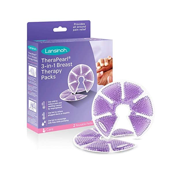 Lansinoh TheraPearl 3-in-1 Hot or Cold Breast Therapy Pack with Cover