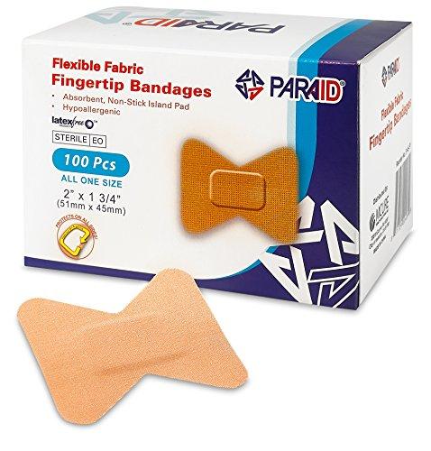 Bendaggio in Tessuto Flessibile - Bende Adesive in Tessuto Elasticizzato per Polpastrelli – Bende per la Cura delle Dita e per Proteggere le Ferite da