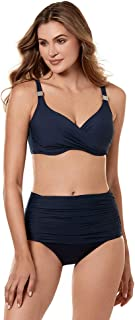 Women's Swimwear Solid Norma Jean Retro Style Tummy Control Bathing Suit Bottom