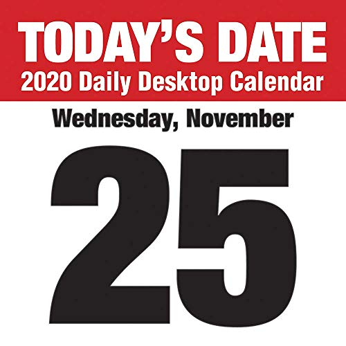 2020 Today's Date Daily Desktop Calendar