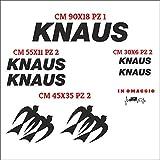 Juego de adhesivos Knaus cortados individualmente, compatibles con kit de pegatinas personalizables, color caravana