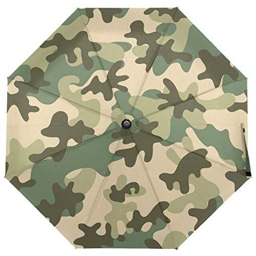 DJMJHG Windproof Camouflage Umbrellas 8 Rib Non Automatic Travel Umbrella Three Folding Compact Rain Umbrella For Men item 4
