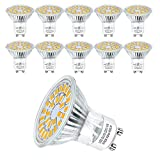 Hilleagle LED Leuchtmittel GU10 Warmweiβ,Nicht Dimmbar 5W 450 Lumen 3000K LED Lamp Ersetzt 50W Halogenlampen,110° Abstrahlwinkel Reflektorlampen,10 Stück