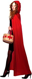 AKAKING`s Costume Full Length Red Hooded Cape Costumes, Red, One Size