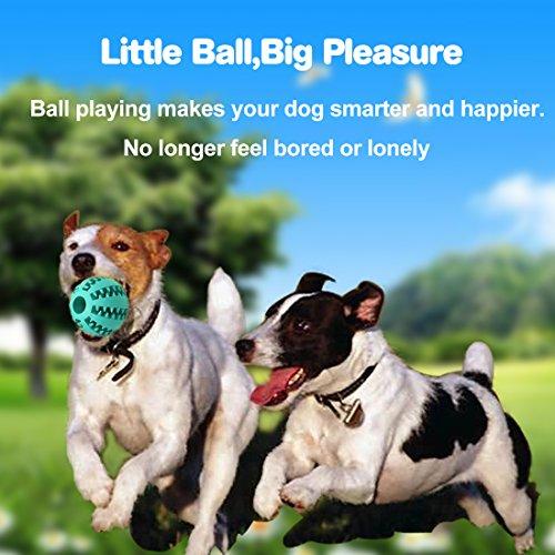 Idepet Hund Spielzeug Ball, ungiftig Bite resistent Spielzeug Ball für Hunde Welpen, Hundefutter Treat Feeder Zahn Reinigung Ball, Hunde Übung Spiel Ball IQ Training Ball - 3