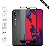 [2 Stück] Beyeah Panzerglas Bildschirmschutzfolie für Huawei P20 Pro, Ideal verbesserte Version, Full Glue Coverage, 9H Festigkeit, lebenslange Garantie (Schwarz)