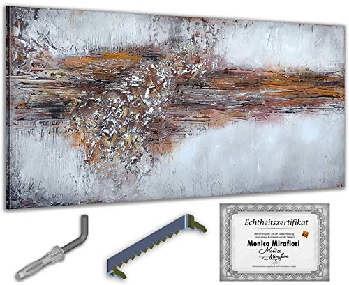 exclusive-gallery I Monica Mirafiori I Gemälde Absorption I 140x70cm | XXL Leinwandbild handgemalt | Acrylgemälde auf Leinwand | Sehr großes Acrylbild auf Keilrahmen