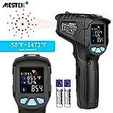 Thermomètre infrarouge Temperature Laser MESTEK Sans Contact Pistolet Temperature LCD -58°F~1472°F(-50°C~800°C) Réglable Alarme d'émissivité Affichage Max/Tenue Maison Industrie Cuisine