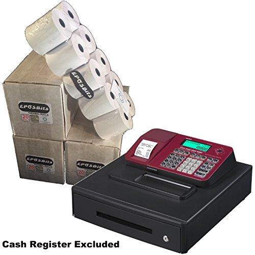 EPOSBITS® Rollos de marca para caja registradora Casio SE-S100 SES100 SES SE...