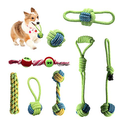 Hundeseilspielzeug ist Unzerstörbar, Aus Natürlicher Baumwolle Hergestellt, sicher und Ungiftig, interaktives Spielzeug, das die Intelligenz des Hundes entwickelt und die Zahngesundheit fördert