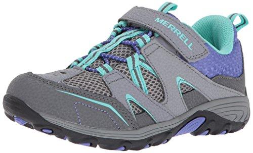 Merrell Trail Chaser Hiking Shoe (Little Kid/Big Kid), Grey/Multi, 3.5 M US Big Kid