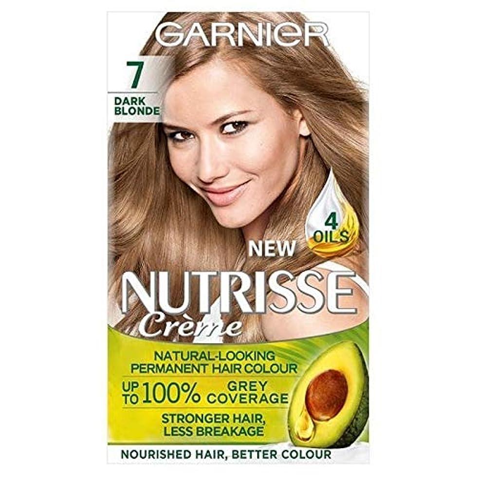 待つ疎外する本物[Garnier ] ガルニエNutrisse永久染毛剤ダークブロンド7 - Garnier Nutrisse Permanent Hair Dye Dark Blonde 7 [並行輸入品]