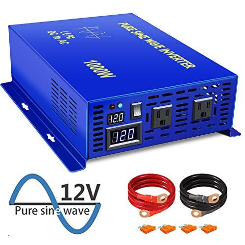 XYZ INVT 3000W Pure Sine Wave Inverter Power Converter 12V DC to 120V ac (3000w/12v)