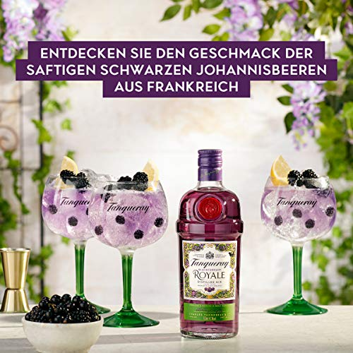 Tanqueray Blackcurrant Royale Distilled Gin – Ideale Spirituose für Cocktails oder Gin Tonic – 1 x 0,7l - 7