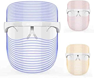 3 Colors LED Light Therapy Mask Acne Treatment Mask Facial Therapy Sessions for Acne Spot Face Skin Treatment