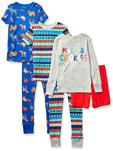Marca Amazon - Spotted Zebra 6-piece Snug Fit Pajama Set - pajama-sets Unisex niños