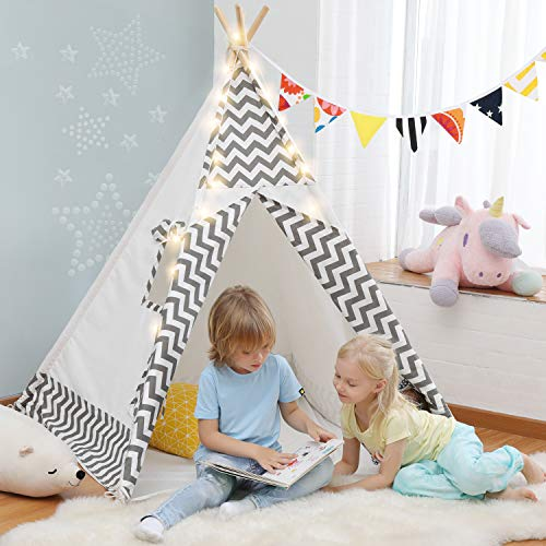 OlarHike Teepee Play Tent for Kids, Girl and Boy, Durable Baby Toddler Tents with Window, Colorful...