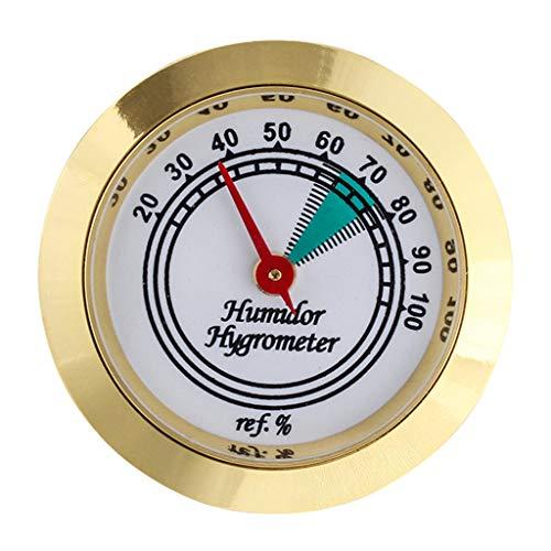 Yinuneronsty 43 Mm Langlebige Qualität Hochgenaues Rundes Kalibrierbares Goldrahmen-Hygrometer