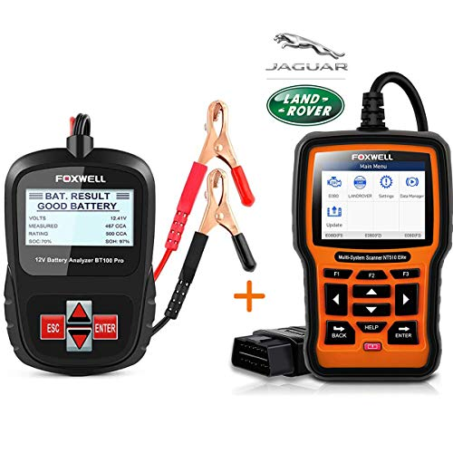 FOXWELL Car Battery Tester Analyzer BT100 Pro with OBD2 Scanner for...